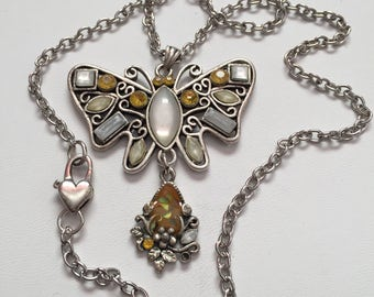 Butterfly Pendant Necklace, Butterfly Pendant, Charm Necklace, Silver Butterfly Pendant