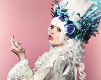 Marie Antoinette Wig /Anime Cosplay WIg / Rococo Style Wig /  Masquerade Party Wig / Powdered Wig / Princess Wig/ Baroque Wig/  White Wig