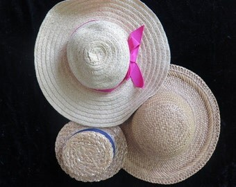 Doll Hats//Straw Doll Hats