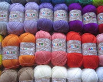 Alize Forever Microfiber acrylic yarn Hypoallergenic yarn crochet yarn  lace weight super fine 3 ply