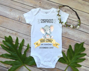 Spanish Pregnancy Reveal, Abuelitos, Baby Gift to Grandparents, Bebe en Camino, Cute Baby Gift, Spanish Baby Reveal to Parents,Abuela Abuelo