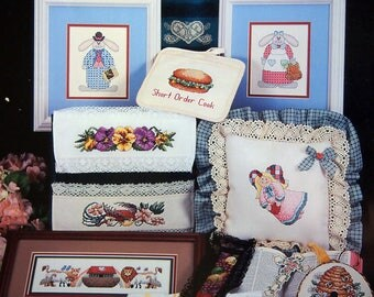 This And That By Melinda And Cross My Heart, Inc. Vintage Cross Stitch Pattern Booklet 1995