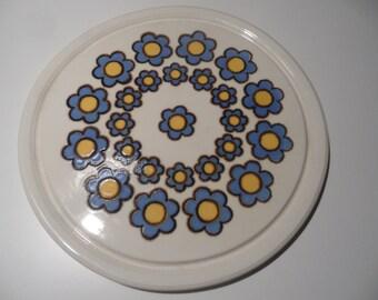 Herbolzheim german cake plate,cake serving plate, german ceramic, serving plate,cake plate,cake serving platter,old plate