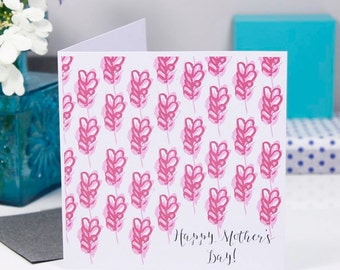 Floral Mother's Day Card - Pink Mother's Day - Card For Mum - Floral Card For Mum - Patterned Mothers Day Card