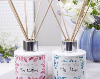 Teacher Thank You Reed Diffuser Personalised Gift Set - Thank You Teacher Gift - Teacher Gift - Teacher Home Gift