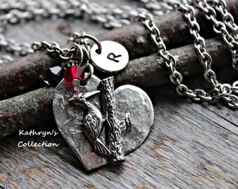 Woodpecker Necklace, Woodpecker Jewelry, Bird Watcher Gift, Bird Lover Gift