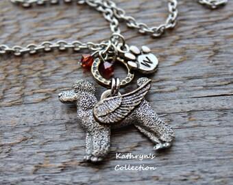 Poodle Angel Necklace, Standard Poodle, Miniature Poodle, Poodle Mom, Pet Memorial Jewelry,