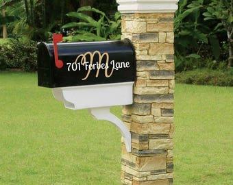 Mail Box Decal, Monogram Mailbox, Mailbox Number, Mailbox Letters, Mailbox Vinyl, Personalized Mailbox, Custom Mailbox