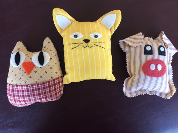 Farm Animal Pillow Pets : Miniature Pillow Pets mini pillow pets cat dog pig