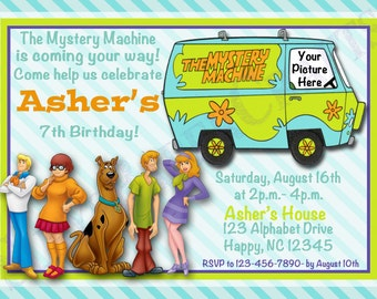 Scooby Doo Birthday Invitation, Digital File, You Print