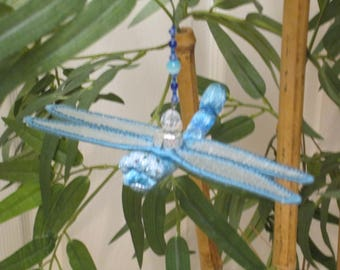 Dragonfly Ornament - Christmas - Housewarming Gift - Birthday Gift - Pale Blue