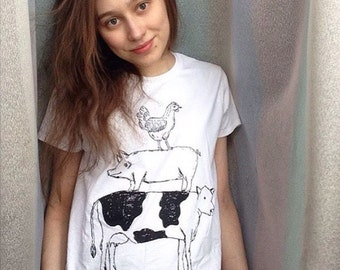 WOMEN'S Friend Not Food Vegan/Vegetarian T-shirt