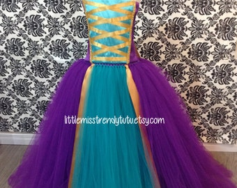 Purple and Teal Girls Princess Tutu Dress-Dress Up Tutu Dress Little Miss Trendy Original Design