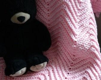 NEW ITEM! Perfectly Posh Pink Crib Baby Blanket