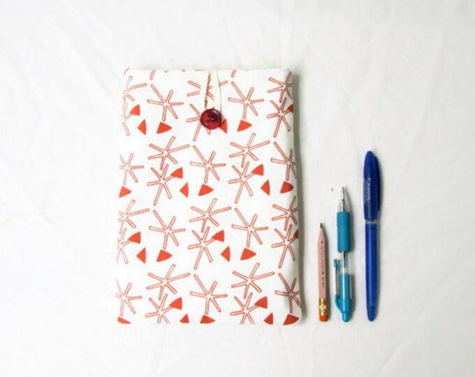 IPad Mini 4 case, screen printed fabric, handmade in the UK