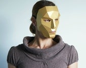 Polygon Female Face - make your own card mask using this simple digital download
