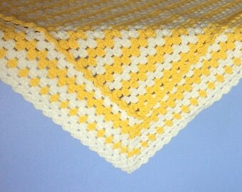 Yellow Newborn cover Crocheted for cradle and cot baby gift