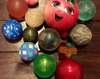 Vintage Bouncey Ball Lot, Vintage Bounce Balls, Vintage Quarter Machine Bounce Balls, Bouncing Balls, Vintage Kids Bouncy Balls, Balls