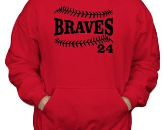 BASEBALL HOODIE. Pullover Hoodie. Team Baseball. Baseball Team. Sports Team. Baseball Sweatshirt. Baseball Shirt. Custom Baseball. Softball.