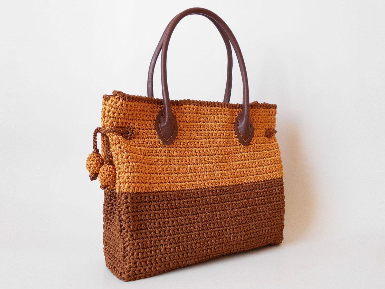 Crochet pattern for a two sizes bag crochet a bag for - Bolsos tejidos a crochet ...