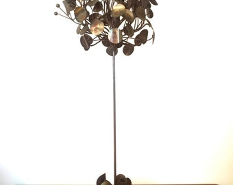 RARE Bronze Raindrop Tree Tabletop Sculpture Curtis Jere