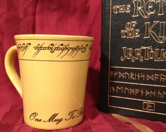 LOTR inspired One Mug To Rule them all ring lord