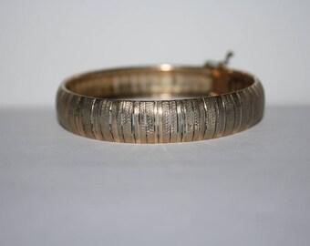Bracelet argent massif Vermeil belle Vintage en argent chaîne de lien 7.25 po