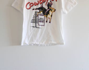 90's Vintage Deadstock 'Electric Cowboy Up' T-Shirt