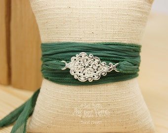 Intercalary cashmere filigree 925 silver bracelet