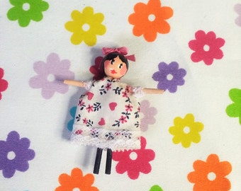 Handcrafted OOAK wooden Dillydolly: - Tilly Dilly Dolly - collectable dolly or dolls house toy