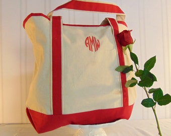 Canvas Tote Bag- Mom's Tote Bag, Add Monogram- 3 Colors Available