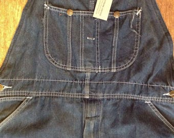 "Vintage Sears Roebuck denim dungarees overalls 40"" x 28"" rockabilly workwear triple stitched"