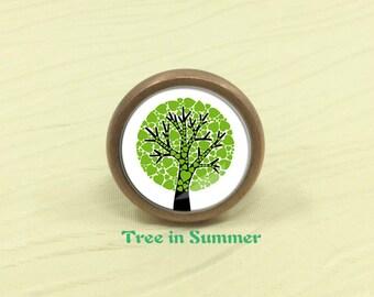 Tree in Summer - Dresser Drawer Knobs Drawer Knob Pulls Handles / Kitchen Cabinet Knobs Handle / Antique Bronze Silver Gold Knob Hardware