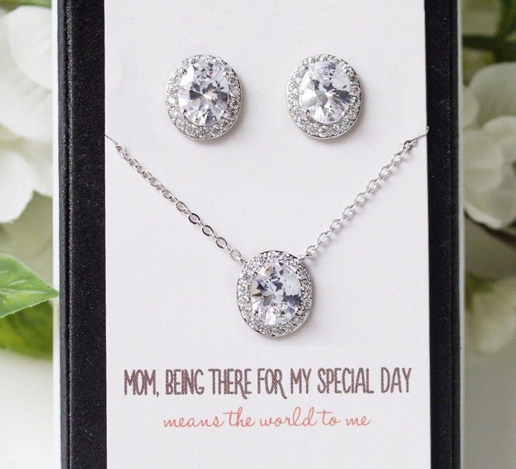 Mother Of The Bride Jewelry: Mother Of The Bride Gift Jewelry Set Necklace Earring Set
