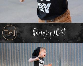 Funny Kids Shirt, Toddler Apparel, Toddler Fashion, Hangry, Boys Shirt, Boys Tee, Funny Shirt, Trendy Tee, Infant Shirt, Infant Tee