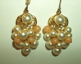 Dangling Pearl Chandelier Earrings