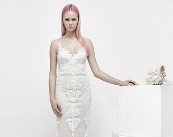 Handmade Wedding Dress With Lace Detailing, Designer Wedding dress, Lace Wedding Dress, Unique Dress, Wedding Gown, Elegant Wedding Dress