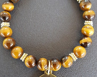 Tiger Eye Affirmation Bracelet/Gift for Her/Birthday Gift/Mothers Day Gift/Affirmation Bracelet
