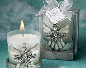 Regal Angel Candle Holders - Religious Wedding Christening Favor 12-72 Qty  FC5445
