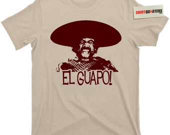 The 3 Three Amigos El Guapo Chevy Chase Steve Martin Short Lucky Day Dusty Bottoms Ned Nederlander Tequila Cinco De Mayo movie t shirt tee