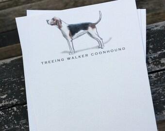 Treeing Walker Coonhound Dog Note Card Set