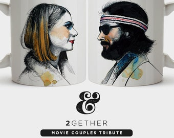 Pack 2 Mugs Margot  Tenenbaum  - A Tribute to Wes Anderson film