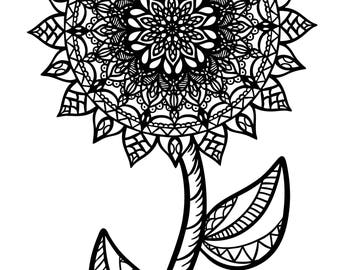 Mandala Flower Coloring Page