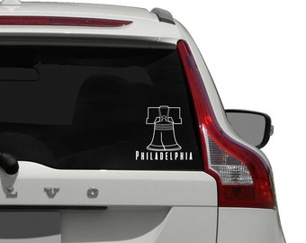 Philadelphia Car Decal / Liberty Bell Car Decal Sticker / Philly Car Decal Sticker