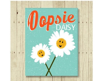 Oopsie Daisy Magnet, Funny Magent, Refrigerator Magnet, Magnet for Kids, Cute Fridge Magnet, Gift Under 10, Daisy Gifts, Puns