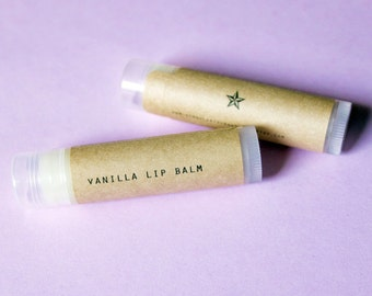 Vanilla Lip Balm // Natural Handmade Lip Balm // Healing Lip Balm with Beeswax and Vitamin e