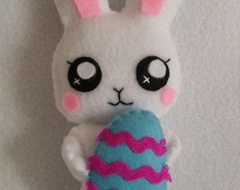 Cute handmade easter bunny plush,bunny ornament,easter ornament,kawaii bunny,easter bunny,handmade ornament,handmade bunny,cute easter bunny