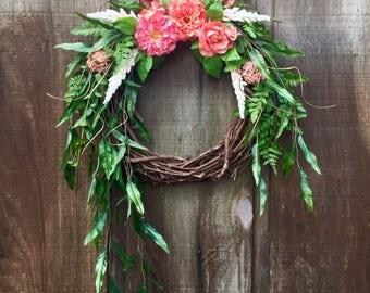 Spring Wreath, Rustic Wreath, Grapevine Wreath, Everyday Wreath, Front Door Wreath, Summer Wreath, Door Wreaths, Woodland Wreath, Home Decor