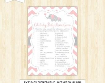 baby shower celebrity game celebrity babies baby shower printable baby name match game baby shower pink and grey pink baby shower game 105