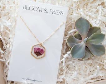 Plum Chrysanthemum Necklace
